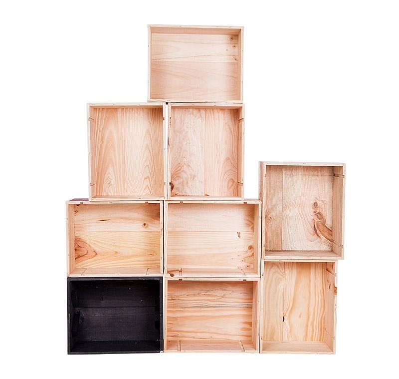 Objets en bois meuble en caisse de vin - Meuble caisse de vin ...