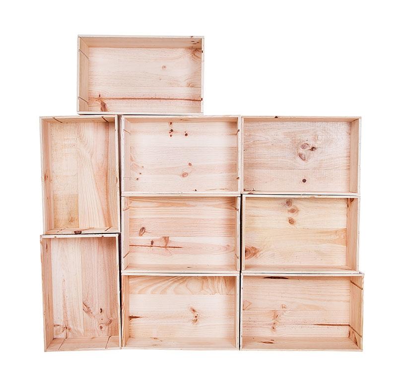 caisses vides aspect clair pomme jardini re estampill e caisse vin. Black Bedroom Furniture Sets. Home Design Ideas