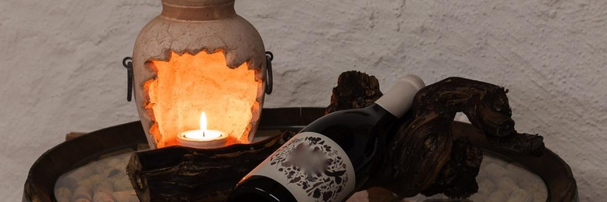 Beaujolais sur un tonneau à vin