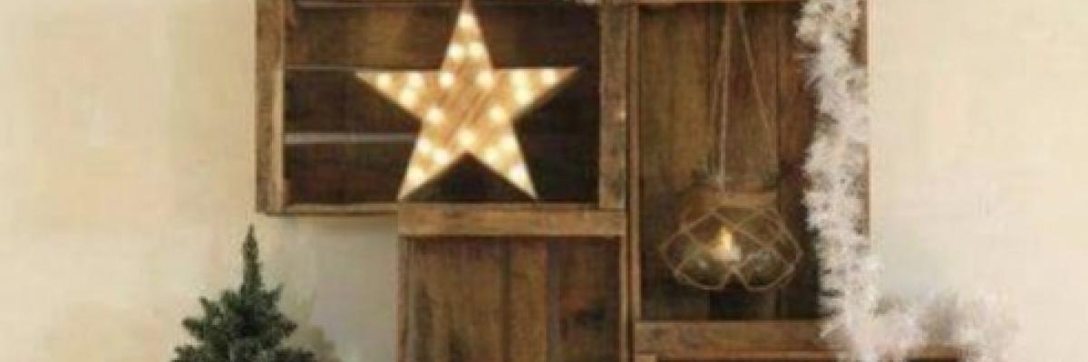 Déco de Noel avec des caisses en bois