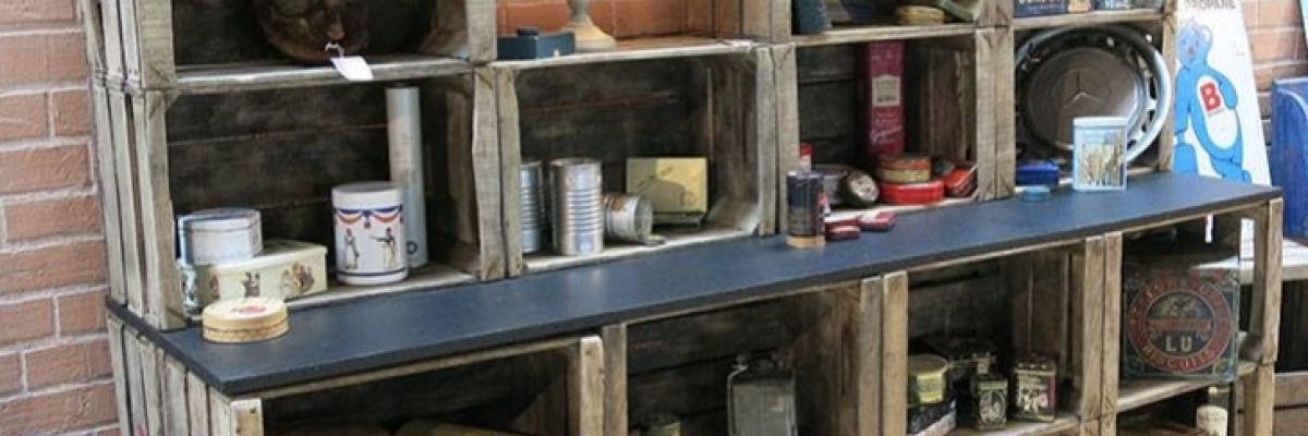 Une caisse en bois pour aménager votre boutique